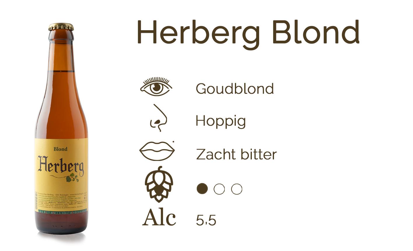 Smaakfiche Herberg Blond