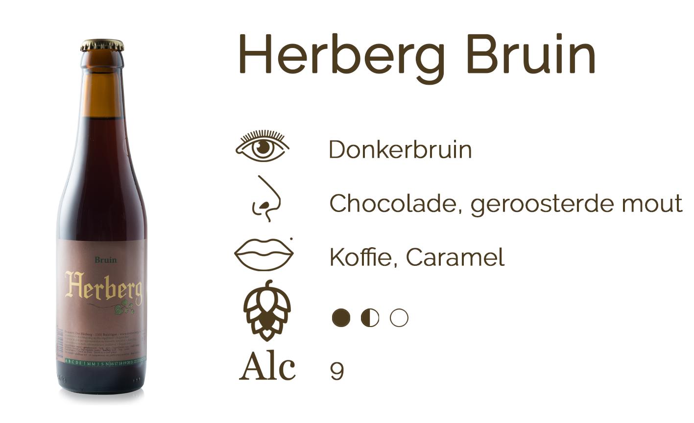 Smaakfiche Herberg Bruin