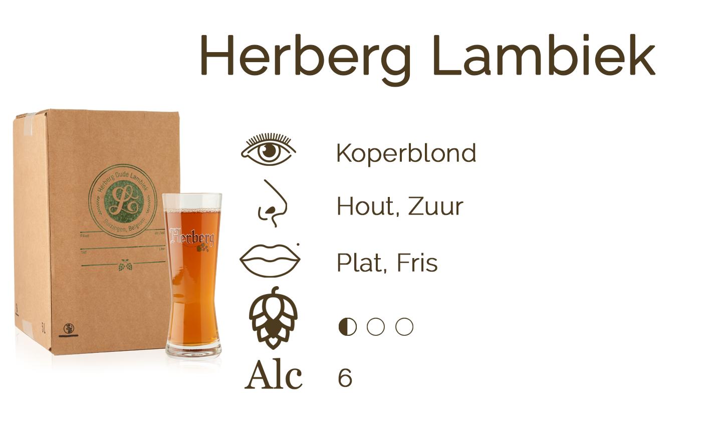 Smaakfiche def Herberg Lambiek